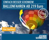 Ballonfahrten bei Jochen Schweizer buchen